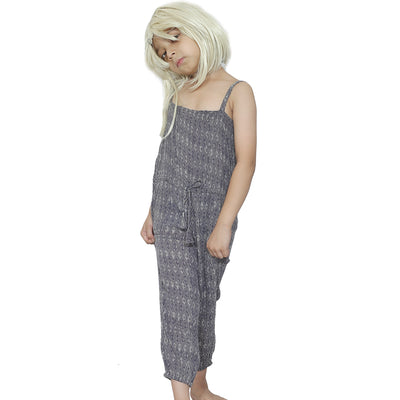 Bonpoint Kids Girls Retro Printed Jumpsuit 6 Years