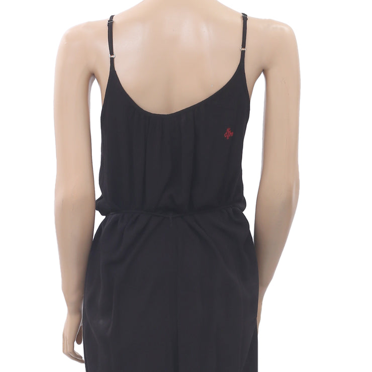 Odd Molly Anthropologie Footloose Jumpsuit Dress Lace Playsuit Black L NW