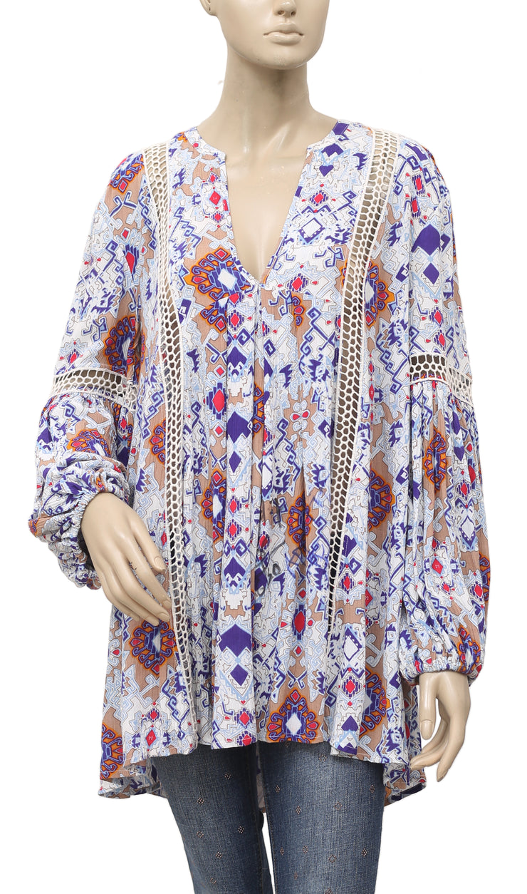 Free People Just The Two Of Us Paisley Top S
