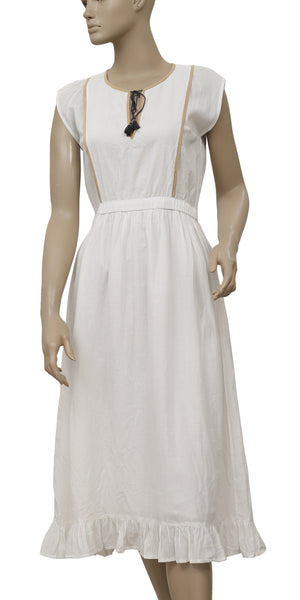 Ulla Johnson Ruffle Short Sleeve White Dress S