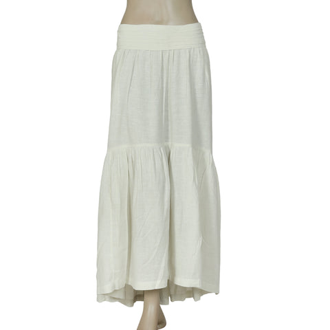 Free People Pleated Smocked High Low Mint Maxi Skirt Large L