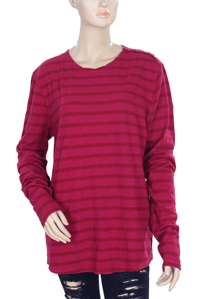 Zadig & Voltaire Striped T-Shirt Tunic Top Medium M