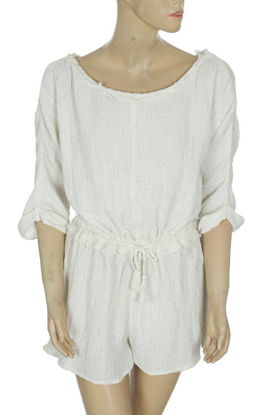 Free People Gauze Romper Dress Small S
