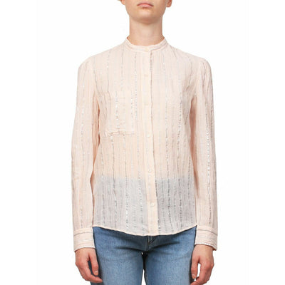 Etoile Isabel Marant Samson Metallic Peach Blouse Top