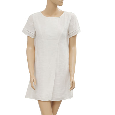 Lilla P Solid Lace Cotton Ivory Tunic Dress XS