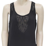 Urban Outfitters Ecote Embroidered Mesh Inset Top S