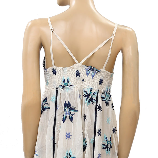 Odd Molly Anthropologie Floral Embroidered Mini Dress S 1