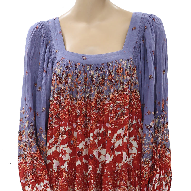 Free People Floral Printed Mini Dress S