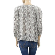 Denim & Supply Ralph Lauren Tassel Tie Printed Blouse Top M New