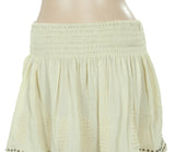 New Free People Embroidered Embellished Beige Mini Skirt X Small XS