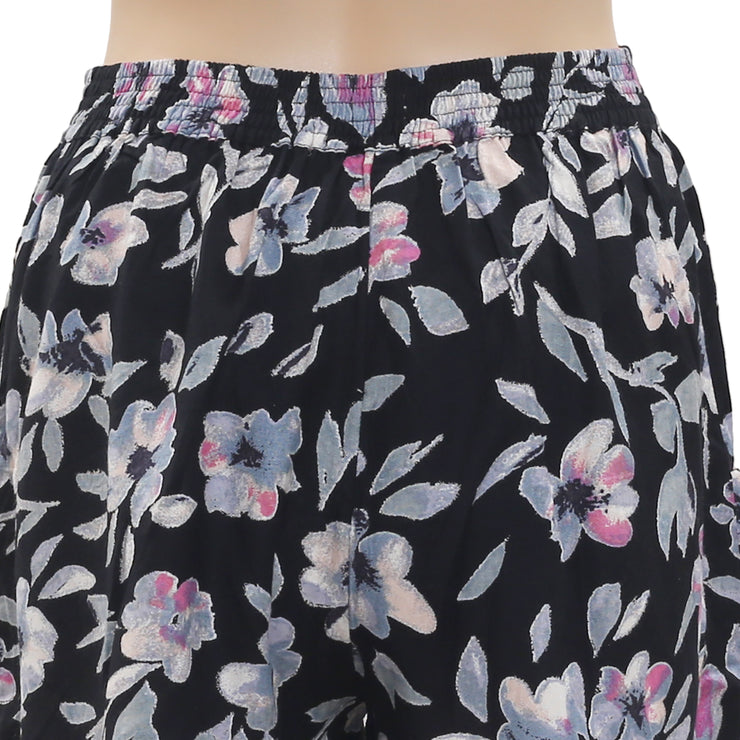 NWT Kimchi Blue Urban Outfitters Floral Printed Smocked Black Shorts S