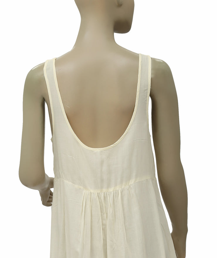 Free People Parisian Slip Lace Dusty Ivory Dress S
