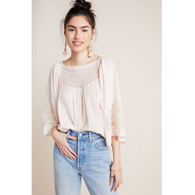 Anthropologie Valentia Peasant Blouse Top S