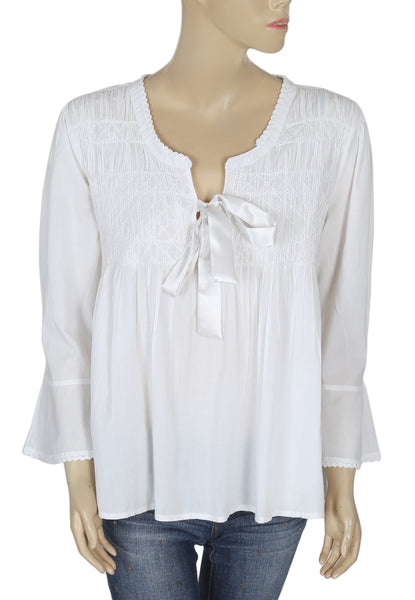 Odd Molly Embroidered White Blouse Top Large L