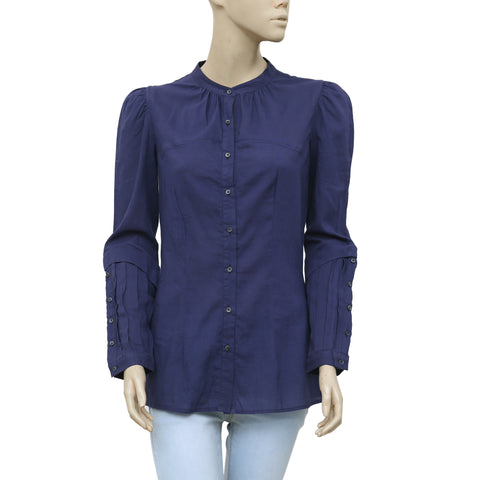 Isabel Marant Étoile Buttondown Pleated Tunic Top XS