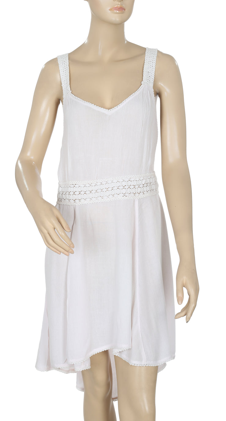 Free People Lace Slip Sleeveless Pink Dress M