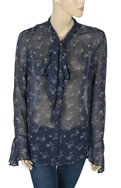 Denim & Supply Ralph Lauren Printed Tie Knot Top M