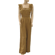 Ulla Johnson Lilith Eyelet Jumpsuit Embroidered Crochet Wide Leg S