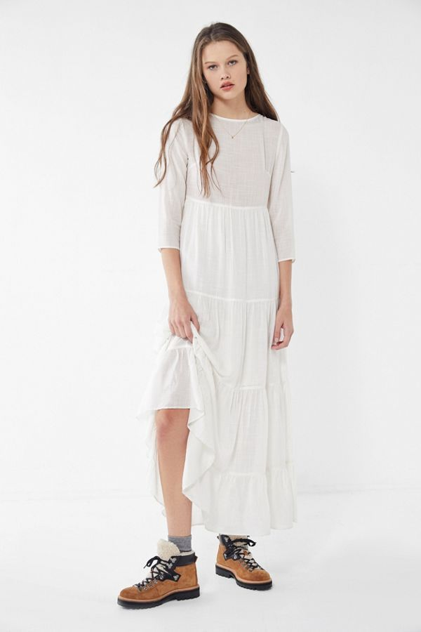 Urban Outfitters Josie Tiered Ruffle Maxi Dress