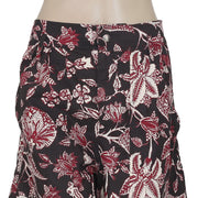 New Paris Isabel Marant Lweni Printed Casual Black Mini Shorts L