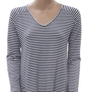 Caite Anthropologie Striped Asymmetrical Tunic Top Boho Holiday S NEW