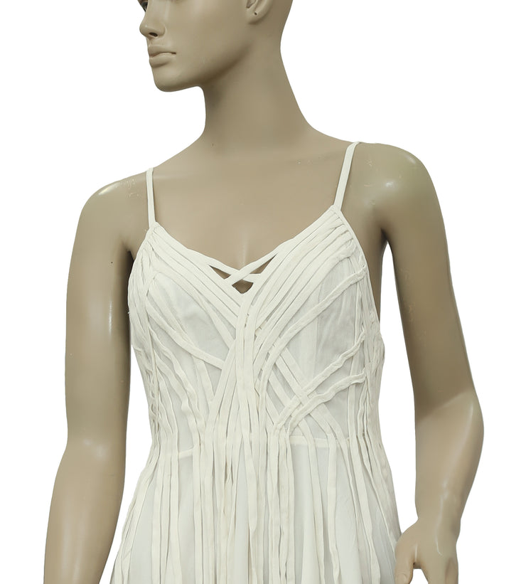 Kimchi Blue Santerine Fringe White Mini Dress XS