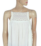 Free People Endless Summer Lace Gauze Tunic Top S