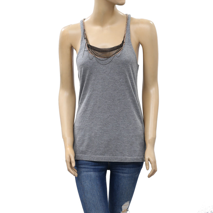 Kimchi Blue Urban Outfitters Chain Embellished Tank Blouse Top XS