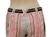 Free People Striped Printed Studded Shorts M