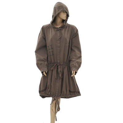 New Ewa I Walla Peasant Lagenlook Vintage Coat Jacket Hoodie Dress M