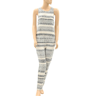 Mara Hoffman Jacquard Zip Up Pocket Jumpsuit S