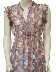 Free People Lady Avalon Floral Printed Maxi Top XS