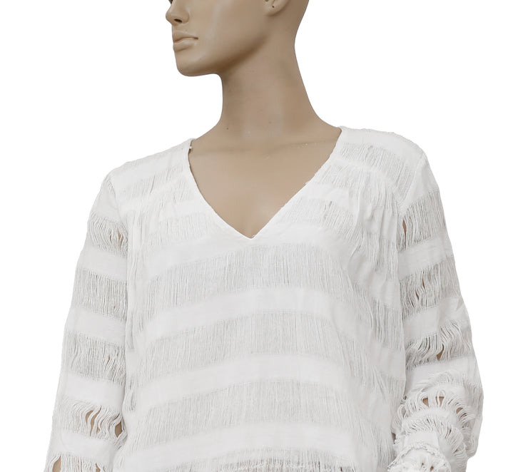 Intropia With Love Cutwork White Top S 36