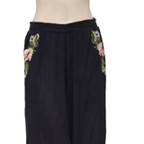 Free People Wonderland Embroidered Wide Leg Pant M