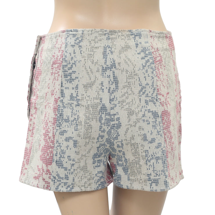 Urban Outfitters Ecote Printed Pocket Beige Shorts Small S