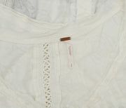Free People Floral Pattern Ivory Buttondown Top S