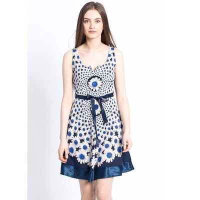 Desigual Sina Gineta Mini Dress Floral Printed Embellished XS