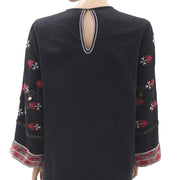 Ulla Johnson Embroidered Embellished Black Dress M