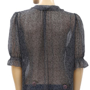 Zadig & Voltaire Printed Blouse Top M