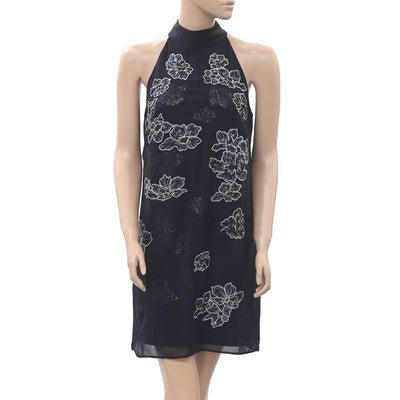 White House Black Market Floral Embroidered Mini Dress S