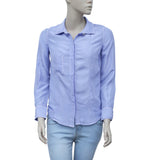 Etoile Isabel Marant Buttondown Periwinkle Silk Shirt Blouse Top XS