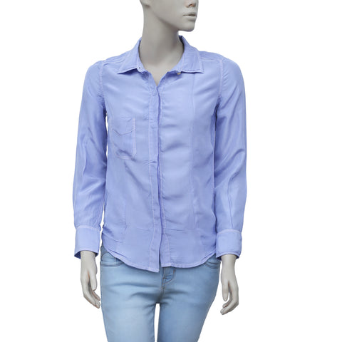 Etoile Isabel Marant Buttondown Periwinkle Shirt Top XS
