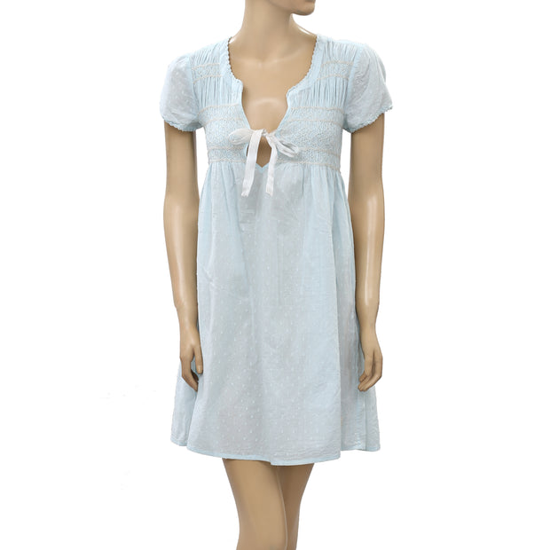 Odd Molly Anthropologie Thread Embroidered Mini Dress S 1
