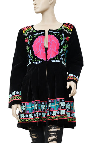 Roja Beautiful Vivid Colorful Embroidered Jacket L