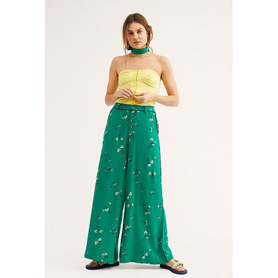Free People Bennie Printed Trouser Pants L