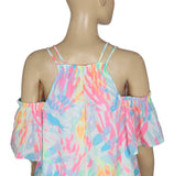 Lilly Pulitzer Bellamie Cold Shoulder Blouse Top XS