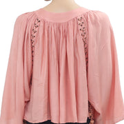 Kimchi Blue Urban Outfitters Mayla Peach Crop Blouse Top M