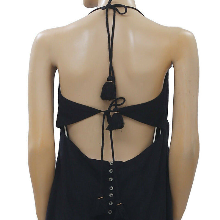 Free People Endless Summer Too Hot To Handle Black Mini Dress Halter