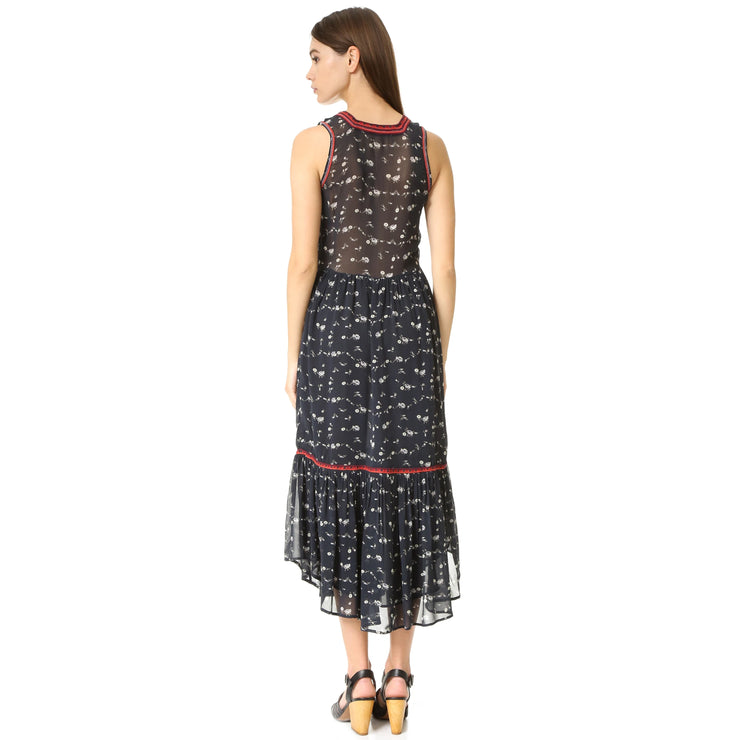 Ulla Johnson Leena Floral Printed Midi Dress  S