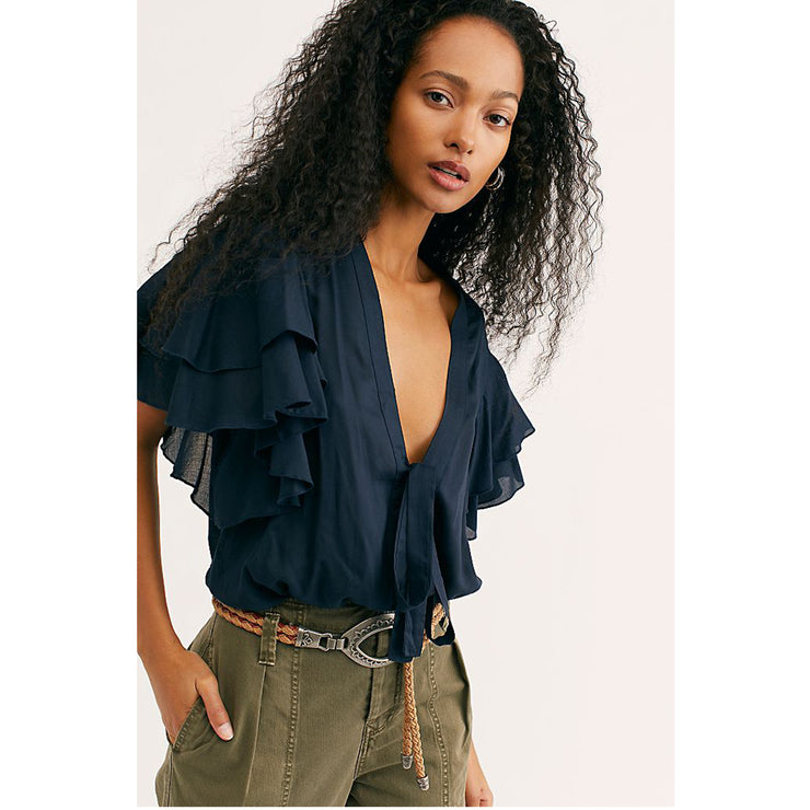 Intimately Free People Call Me Later Solid Bodysuit Top
